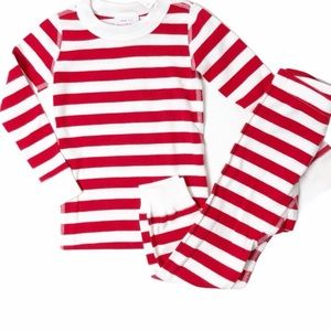 Hanna Andersson Red White Stripe Long John Pajamas